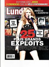 Celine Dion Rare Lundi Magazine Volume 32 April 2208 + Free 7 Jours Tv Guide 200