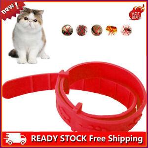 💖Cute!Elastic Flea Collar For Cats, Soft Neck (Red) UK!~~✌