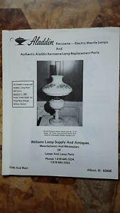 ALADDIN KEROSENE- ELECTRIC MANTLE LAMPS CATALOG PRICE LIST + LAMP PARTS 1981