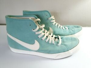 Nike Primo Court Mid Suede Trainers 630656-300 Mint Green/White UK6/US8.5/EU40