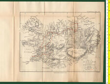 #41962 England1894. Vintage map of Iceland. Royal Geog.Society