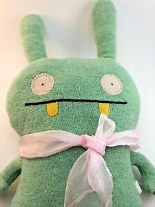 "Uglydoll 2006 Classic ""Moxy"" Mint Green 16"" Plush Stuffed Animal Monster *STAIN*"