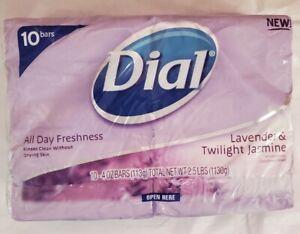 Dial All Day Freshness LAVENDER & TWILIGHT JASMINE Deodorant Bar Soap 10 pack