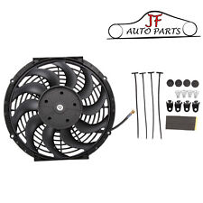 "Universal 12"" 80w Electric Engine Radiator Intercooler Cooling Fan With Fittings"