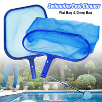 Swimming Pool Cleaning Net Leaf Skimmer Cleaner Rake Tool Deep Bag Fine Mesh US