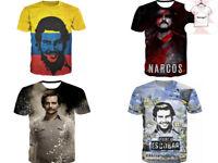 New 3D T-shirt Pablo Escobar EL Patron Del Mal Columbia Cartel Style S - 87a9dd4e0884