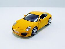 "RMZ City Porsche 911 Carrera S DieCast Car Pull Back 5"" Long Yellow Used"