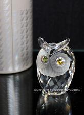 Ravissant CHOUETTE original SWAROVSKI Crystal D'argent Création FIGURINE