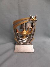 lamp of knowledge star glossy trophy resin award Rst561