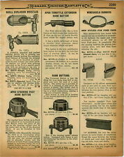 1926 PAPER AD Buell Explosion Whistle Car Auto Automobile Horn Chime