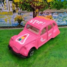 MC TOY RARE CITROEN 2CV  STOP ROSE PINK MADE IN MACAU SUPERBE