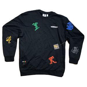 Disney X Adidas Originals Goofy Crew Neck Sweatshirt Black Mens Medium GJ0848