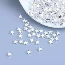 Solid 925 Sterling Silver Star Beads 10pcs/Lot Whole Beads For Bracelet or Chain