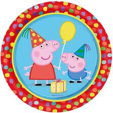CIALDA per compleanno PEPPA PIG  ostia formato A4 TONDA