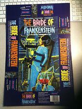 Bride of Frankenstein UNCUT UNFOLDED box top Polar Lights Aurora