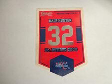 2012/13 Classics Signatures DALE HUNTER #EN69 Capitals Banner Numbers