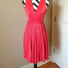 Banana Republic Shirt Dress Solid Orange Silk Blend Size Medium  D196