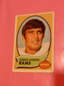 1970 AMERICAN FOOTBALL TRADING CARD ROMAN GABRIEL LOS ANGLES RAMS TOPPS #100 VGC