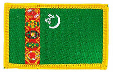 FLAG PATCH PATCHES TURKMENISTAN IRON ON EMBROIDERED SMALL