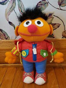 Vintage 1989 Playskool Dress Me Up Pal Ernie Learn To Dress Doll