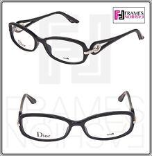 140562e3efaf Christian Dior voluta CD3216 Negro Plata Cuadrado 54mm Rx gafas Ópticos