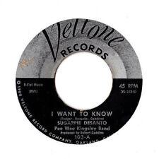 SUGAR PIE DESANTO ~ I Want To Know 45 ~Veltone 1960 Blues / R&B HEAR!