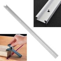 Aluminium 600mm 24'' T-Slot T-Track Miter Track Woodworking Alloy Tools Set #