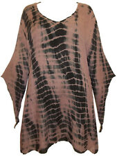 STUNNING SMOCK TUNIC DRESSY LONG TOP PIXI SLEEVES MORI ESOTERIC GOA BLOUSE 18