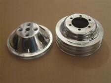 Small Block Mopar Polished Aluminum 1 & 3 Groove Water Pump Crankshaft Pulleys