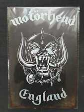 More details for motorhead metal sign plaque english rock posters
