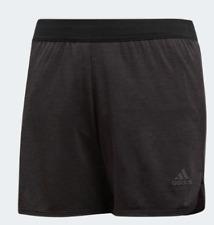 Adidas Climachill Shorts Girls Juniors Grey Black Size 11-12 Years *REF56