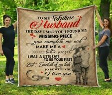 TO MY HUSBAND - Missing Piece Version 6 Fleece, Quilt Blanket Print In USA