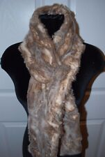 RESTORATION HARDWARE FAUX FUR LYNX SCARF NEW TAGS LUXURIOUS RARE STYLE