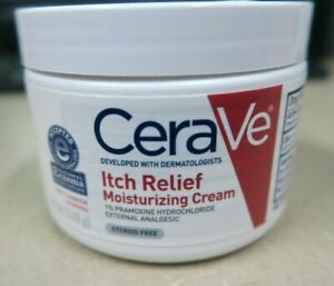 CeraVe Itch Relief Moisturizing Skin Cream Poison Ivy Insect Bites Ex 06/22^ New