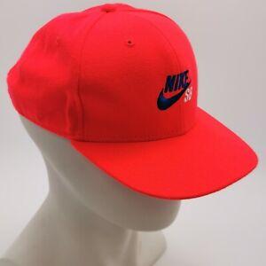 Nike Baseball Hat Neon Orange Adjustable Boy's Youth Logo Embroidered 031408