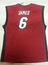 LeBron James Adidas Miami Heat NBA replica jersey men sz 2XL red cavs cleveland