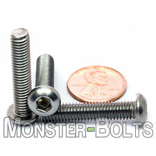 M6-1.0 x 30mm - Qty 10 - Stainless Steel BUTTON HEAD Socket Cap Screws ISO 7380