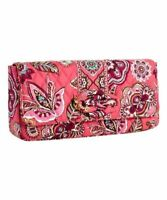 Vera Bradley Knot Just A Clutch Shoulder Bag Pink Paisley Call Me Coral Cotton N