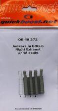 Quickboost 1/48 Junkers Ju88G-6 Nuit échappement # 48272