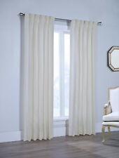 """Canton 100% Cotton Pinch Pleated Drape Pair, White, 132"""" wide by 84"""" long"""