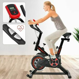 Exercise Training Bike Indoor Cycling Bicycle Workout Trainer LCD Monitor UK
