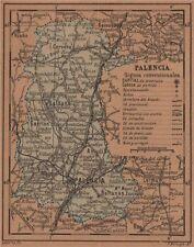 Palencia. Castilla y León. mapa antiguo de la provincia 1905 Antiguo Viejo