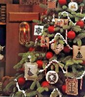 1990 Counted Cross Stitch Pattern Book Christmas Ornaments 33 Designs 6277F