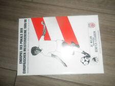 1990 EUROPEAN CUP FIAL AC MILAN V BENFICA