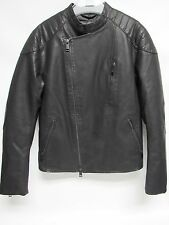 Armani Exchange A|X M Medium FAUX-LEATHER ASYMMETRICAL MOTO Jacket BLACK