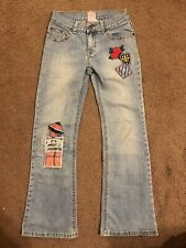 Girls Stuff By Hillary Duff Blue Jeans Size 10 Embellishment With Patches Roses
