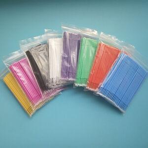 8 Pack Dental Micro Applicators Brush Disposable Sticks Bendable Multi Size Fine