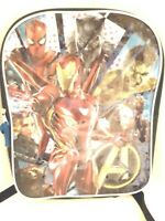 "MARVEL AVENGERS INFINITY WAR Back Pack Book Bag 15"" X 12"" Blue w/ Black NEW"