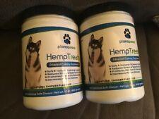 PlanoPaws HempTreats Dogs Calming chews Supplement All Natural 2 bottles hemp