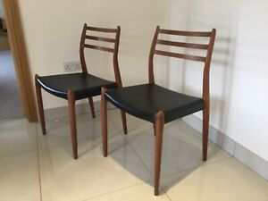 Niels Moller model 78 danish dining chairs